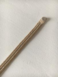 armband type 'stripes' van ibu jewels in naturel met zilver