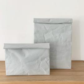 Clutch bag wide van SIWA, lichtgrijs