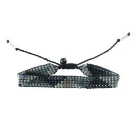 Startdust triangel zwart onyx zilver armband, A Beautiful Story