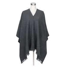 Poncho van Lapuan Kankurit, 100% wol donker grijs