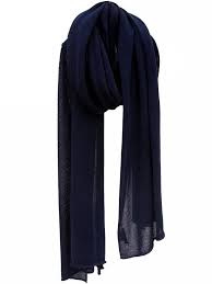 sjaal cosy cotton van Sjaal Mania in navy blue