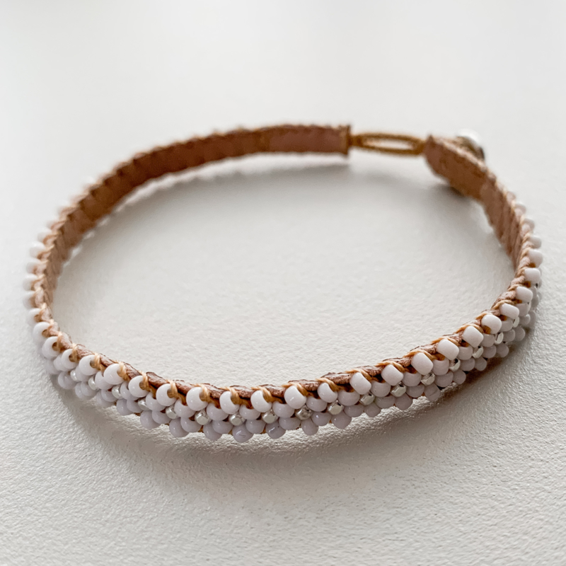 Armband Lace in wit-zilver van Ibu Jewels
