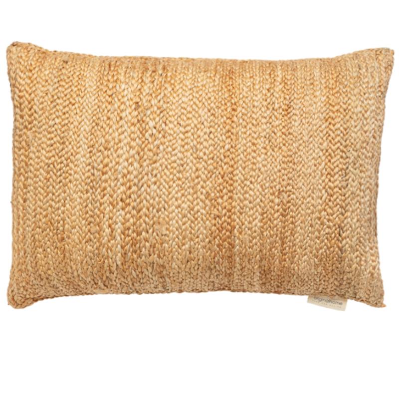 Jute cushion, 60 x 40 cm, met eco vulling