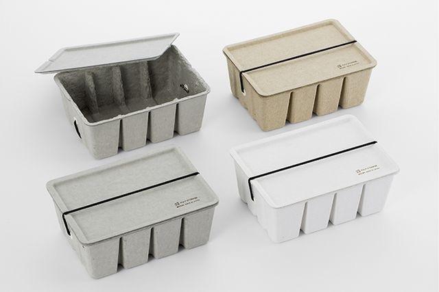 Midori pulp card box, verkrijgbaar in wit, beige en grijs