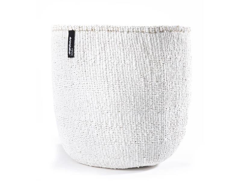 mand van 80% gerecycled plastic met sisal, wit,  van Mifuko, maat l