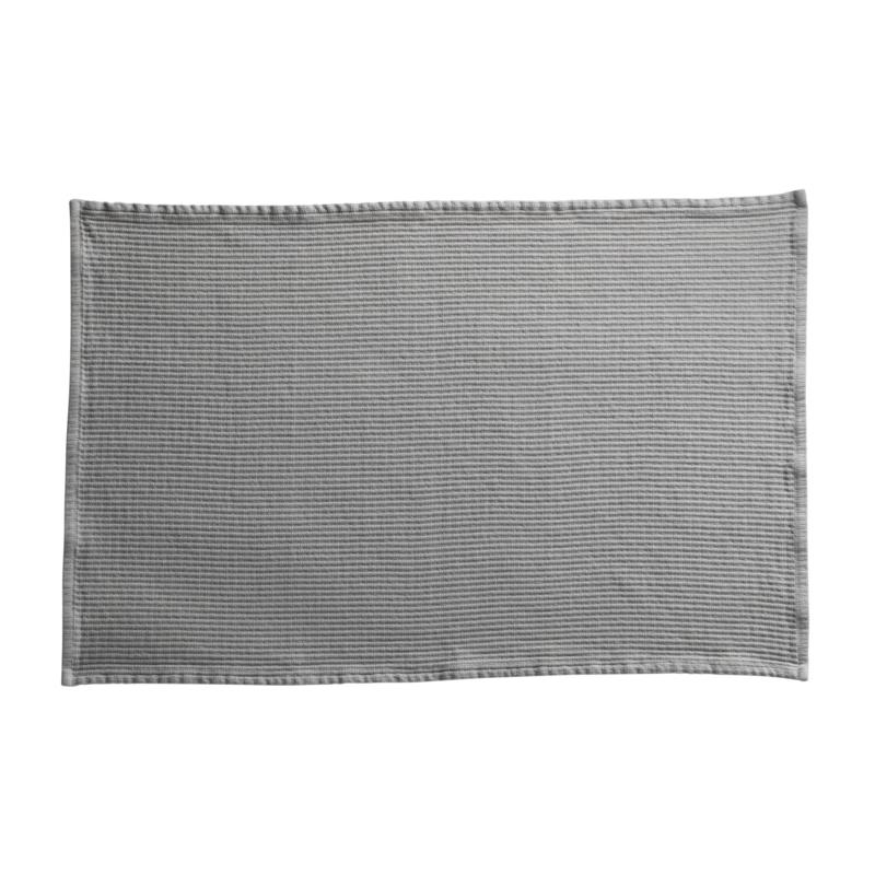 badmat van Tine K Home in de kleur kit-grijs, 60 cm x 90 cm