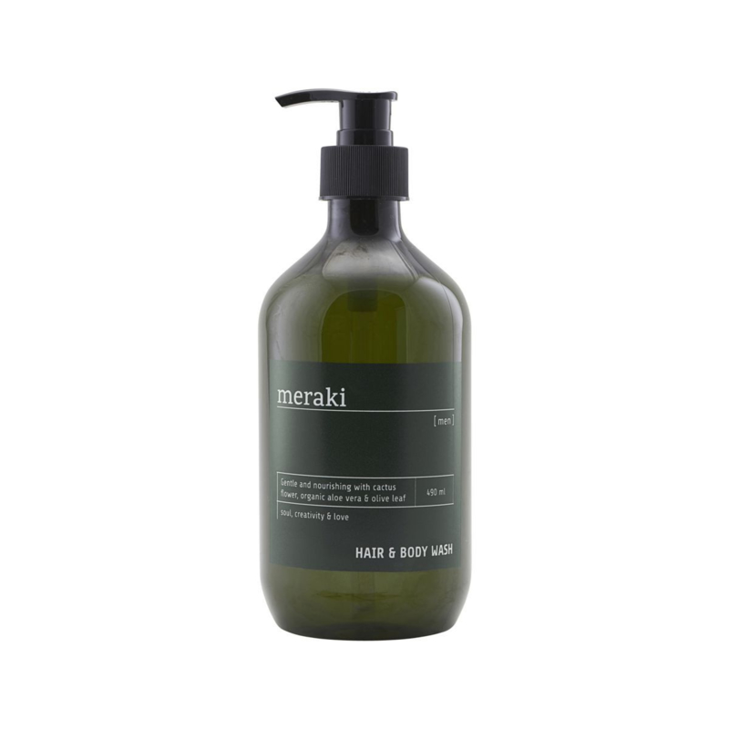hair & bodywash for men van meraki, 490ml