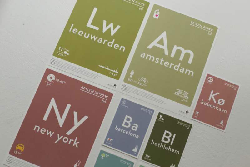 A4 poster van Label of the elements
