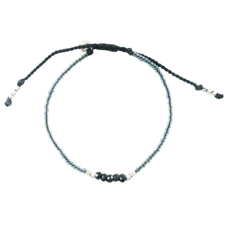 Cozy zwarte onyx zilver armband, A Beautiful Story