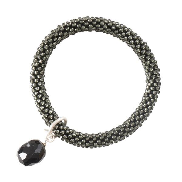 Classic zwarte onyx zilvergrijs armband, A Beautiful Story