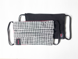 AH&BC Mondkapje - one size (rood / zwart)