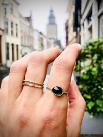 Gouden ring met groene tourmalijn