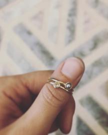 Ringen gemaakt van 'oud' goud
