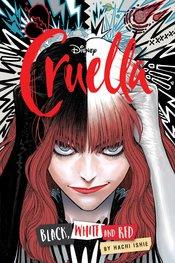 DISNEY CRUELLA MANGA BLACK WHITE & RED