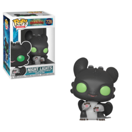 Pop! Movies: How To Train Your Dragon 3 - Night Lights (Black w/ Green Eyes)