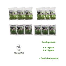 Combi-pakket: 6 x 10 gram en 6 x 20 gram