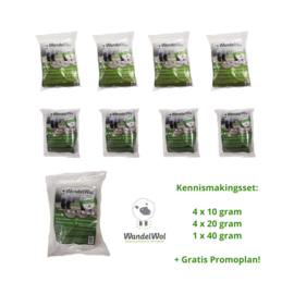 Kennismakingsset: 4x 10 gram 4x 20 gram 1x 40 gram