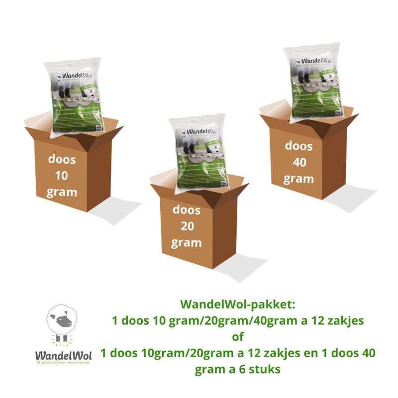 WandelWolpakket: 1 ds 10 gram 1 ds 20 gram 1ds 40 gram + 30 proefzakjes