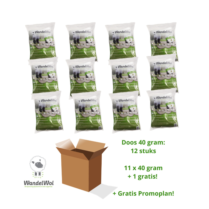 Doos WandelWol 40 gram 11 + 1 gratis