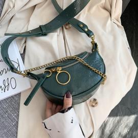 Gigi Groene Gouden Crossbody Tas