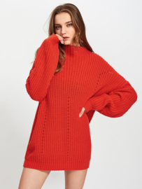 Ruby Red Oversized Trui