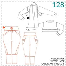 128, tricot broek: 1 - makkelijk