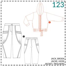 123, Jacke: 2 - etwas Näherfahrung