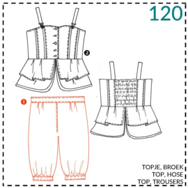120, Puffhose: 1 - einfach