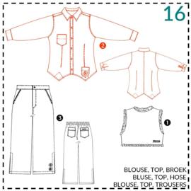 16, blouse: 2 - beetje ervaring