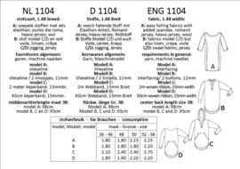 1104, tuniekjurken: 1 - makkelijk / 2 - beetje ervaring