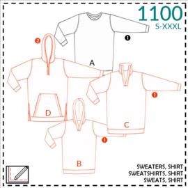 1100, Sweats: 1-einfach/2-etwas Näherfahrung