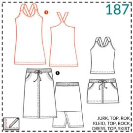 187, jurk: 1 - makkelijk