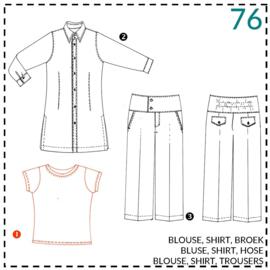 76, Shirt: 1 - einfach