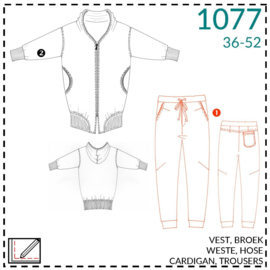 1077, lounge trousers: 1 - easy