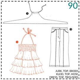 90, jurk: 1 - makkelijk