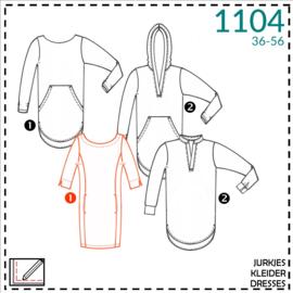 1104, Tunika/Kleider: 1 - einfach / 2 - etwas Näherfahrung