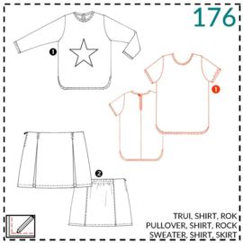 176, Shirt: 1 - einfach