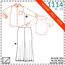 1114, rok: 1 - makkelijk / blouse: 2 - beetje ervaring
