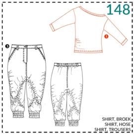 148, Shirt: 1 - einfach