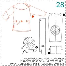 28, Pullover: 1 - einfach