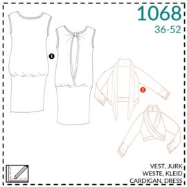 1068, Weste, 1 - einfach