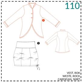 110, Weste: 1 - einfach