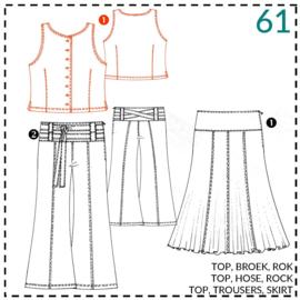 61, blouse: 1 - makkelijk
