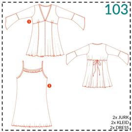 103, 2 jurken: 1 - makkelijk