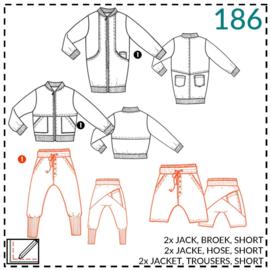 186, broek/short: 1 - makkelijk