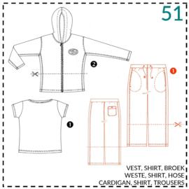51, tricot broek/short: 1 makkelijk