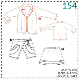 154, Jacke:  2 - etwas Näherfahrung