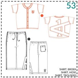 53, baseball shirt: 1 - makkelijk