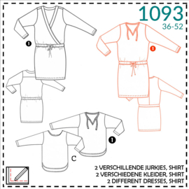 1093, T-shirt dress: 1 - easy