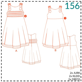 156, Kleid: 1-einfach/2-etwas Näherfahrung
